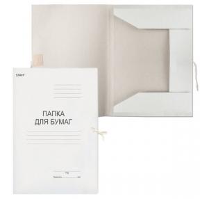Папка для бумаг с завязками картонная STAFF, гарантированная плотность 310 г/м2, до 200 листов, 121120
