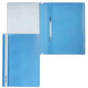 Скоросшиватель пластиковый BRAUBERG голубой