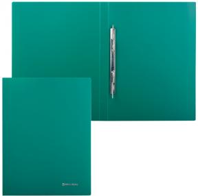 Папка с мет. скоросш. BRAUBERG Стандарт, зеленая, до 100 листов, 0,6мм