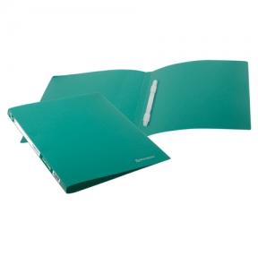 Папка с пластиковым скоросш. BRAUBERG Бюджет, зеленая, до 100 листов, 0,5мм