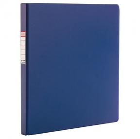 Папка с металлическим пружинным скоросшивателем BRAUBERG, картон/ПВХ, 35 мм, синяя, до 290 л(223187)