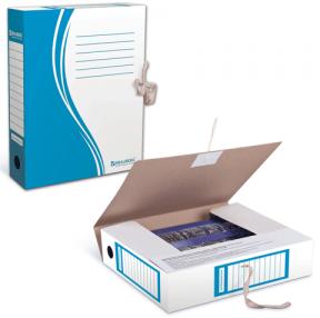 Накопитель документов, папка с завязками BRAUBERG, 75 мм, 2 х/б завязки, синий, до 700 л.