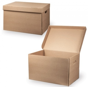 """Короб архивный """"Делопроизводство"""" (в29,5*ш48*г32,5, см), откидная крышка, картон, бурый (126523)"""