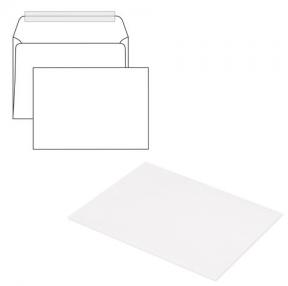 Конверты С5, отрывная полоса STRIP, белые, 162×229 мм, 1 шт (124404 /1)