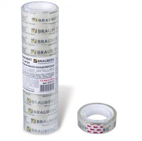 Клейкие ленты 12 мм х 10 м канцелярские BRAUBERG