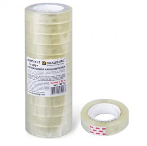 Клейкие ленты 12 мм х 33 м канцелярские