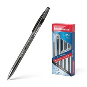 Ручка гелевая ERICH KRAUSE «R-301 Original Gel», корпус прозрачный, узел 0,5 мм, линия 0,4 мм, черная (142861)