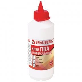 Клей ПВА BRAUBERG, 0,5 кг, универсальный (600982)