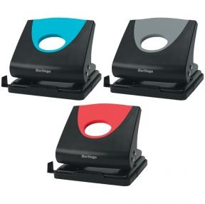 Дырокол Berlingo, Office Soft, 20л., пластиковый, ассорти, с линейкой (210985)