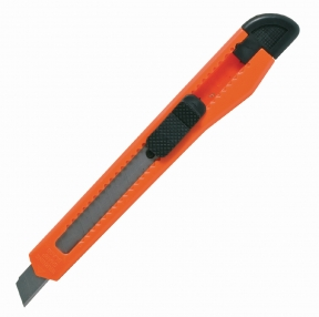 Нож канцелярский 9 мм STAFF, фиксатор, цвет корпуса ассорти (230484)