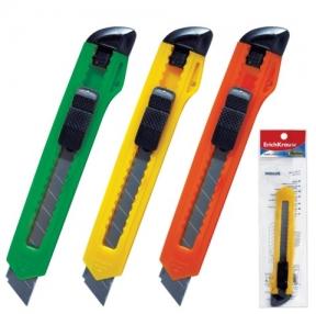 Нож универсальный ERICH KRAUSE Standard, 18 мм, фиксатор, ассорти