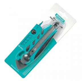 Нож канцелярский STANGER, 18мм, усиленный, комбинированный (053828)
