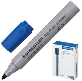Маркер для флипчарта STAEDTLER  «Lumocolor», непропитывающий, круглый наконечник, 2 мм, синий