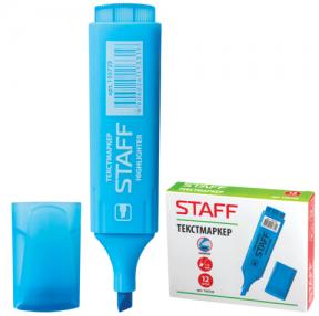 Текстмаркер STAFF эконом, скошенный наконечник 1-5 мм, голубой
