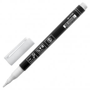 Маркер перманентный BRAUBERG W2, Белый, круглый наконечник 2 мм (151505)