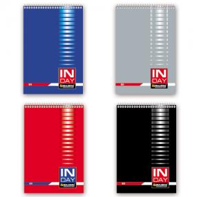Блокнот BRAUBERG  А5, 146×206 мм, 80 л., гребень, обложка мел. картон, клетка