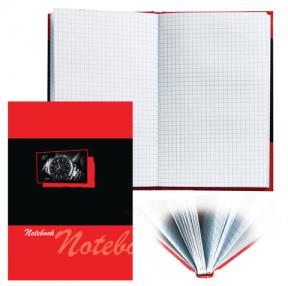 Блокнот BRAUBERG , A5, 135×206 мм, 96 л., твердая ламинированная обложка, клетка, время