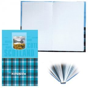 Блокнот BRAUBERG , A5, 135×206 мм, 96 л., твердая ламинированная обложка, клетка, шотландка