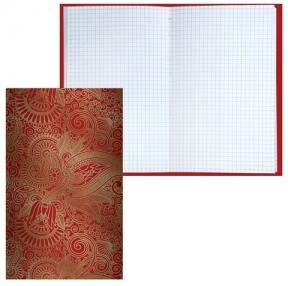 Блокнот 7БЦ, А5, 80 л., фольга, клетка,BRAUBERG, «Восточный узор», 135×206 мм