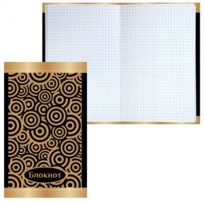 Блокнот, А5, 80 л., фольга, клетка,BRAUBERG, «Фантазия», 135×206 мм