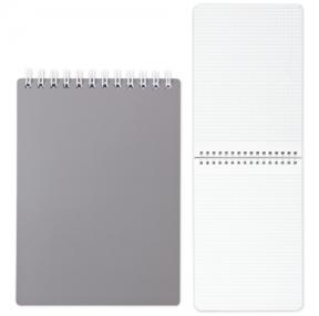 Блокнот А5, 80 л., гребень, пластиковая обложка, HATBER, «Серый», 145×205 мм