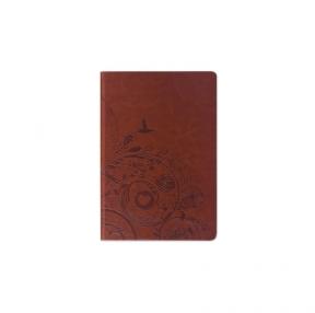 Блокнот BRAUBERG, А5, 148×218 мм, Feelings, 128 л., кожзаменитель с тиснением, линия, коричневый (128042)
