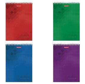 Блокнот ФОРМАТ А4, 200×285 мм, А4, 80 л., гребень, картон, жесткая подложка, клетка, BRAUBERG, Бизнес (129804)