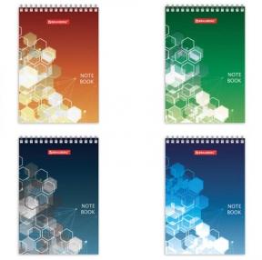 Блокнот МАЛЫЙ ФОРМАТ (97×145 мм) А6, 60 л., гребень, картон, клетка, BRAUBERG, Спектр (129826)