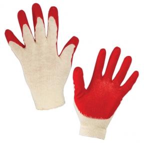 Перчатки хлопчатобумажные, комплект  5 ПАР, 13 класс, 36-38 г, 100 текс, Одинарный латексный облив, ЛАЙМА Люкс (600802)