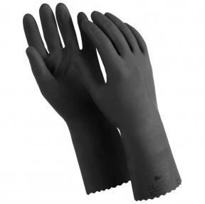 Перчатки латексные MANIPULA КЩС-1, двухслойные, размер 9 (L), черные (605827)