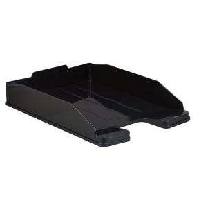 Лоток горизонтальный для бумаг СТАММ «Эксперт-эконом», А4 (340х255х63 мм), полипропилен, черный (235672)