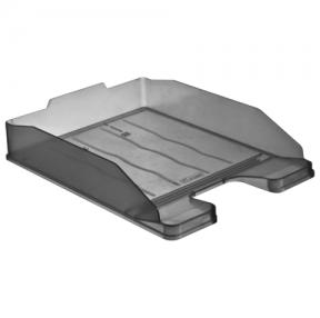 Лоток горизонтальный для бумаг СТАММ «Эксперт», тонированный серый