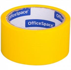 Клейкая лента упаковочная OfficeSpace, 48мм*40м, 45мкм, желтая (212003)