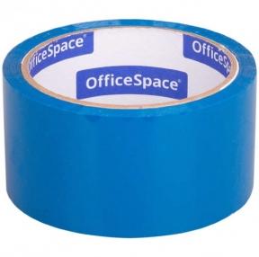 Клейкая лента упаковочная OfficeSpace, 48мм*40м, 45мкм, синий (212007)