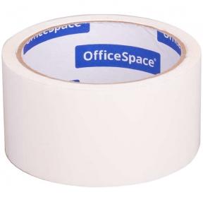 Клейкая лента упаковочная OfficeSpace, 48мм*40м, 45мкм, белая (219505)