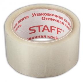 Клейкая лента упаковочная, STAFF, прозрачная,50 мм х 66 м