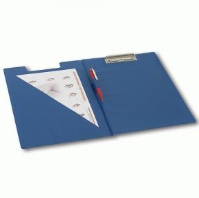 Папка-планшет BRAUBERG, с верхним прижимом и крышкой, А4, картон/ПВХ, синяя