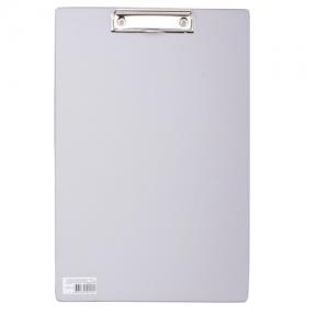 Доска-планшет BRAUBERG «Comfort» с верхним прижимом, А4, 23×35 см, картон/ПВХ, серая