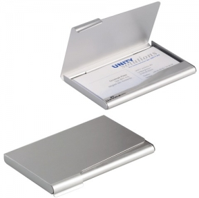 Визитница карманная DURABLE  на 20 визиток, алюминиевая