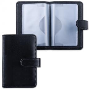 Визитница/кредитница однорядная GALANT «Ritter», под кожу, на 24 карты, магнитная застежка, черная