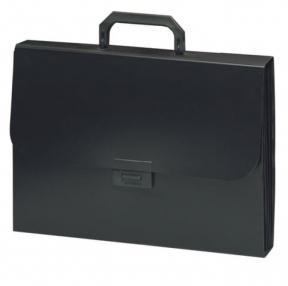 Портфель пластиковый BRAUBERG Energy, А4, 330×256×32 мм, 6 отделений, индексные ярлыки, черный (221204)