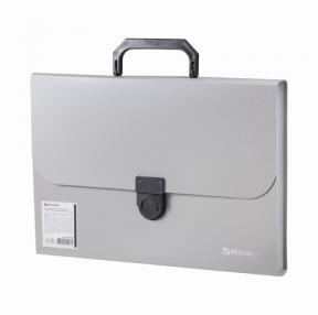 Портфель пластиковый BRAUBERG «Делегат А4», 13 отделений