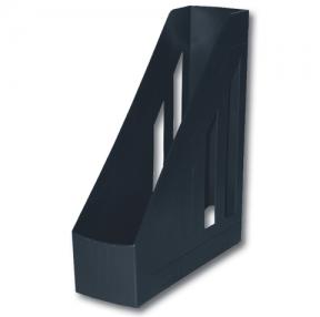 Лоток вертикальный для бумаг BRAUBERG «Contract» , ширина 85 мм, отверстия на торцах, черный
