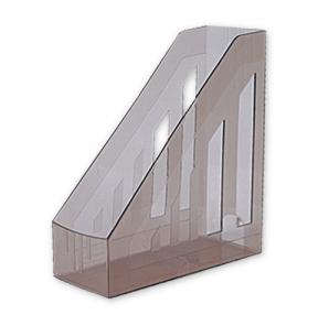 Лоток вертикальный для бумаг BRAUBERG «Contract» , ширина 85 мм, отверстия на торцах, тонированный