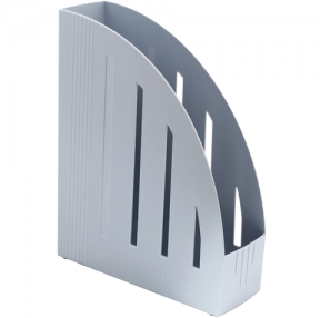 Лоток вертикальный для бумаг BRAUBERG «Energy» , ширина 85 мм, эргономичная форма, серый