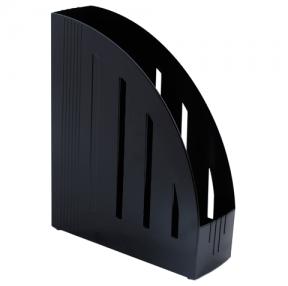Лоток вертикальный для бумаг BRAUBERG «Energy» , ширина 85 мм, эргономичная форма, черный