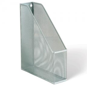 Лоток вертикальный для бумаг BRAUBERG, Germanium (250×72×315 мм), металлический, серебряный, 231949