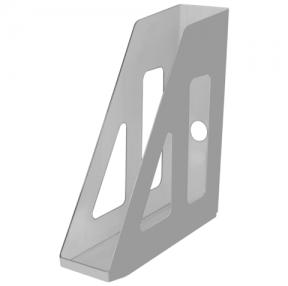 Лоток вертикальный для бумаг СТАММ «Актив», ширина 70 мм, серый