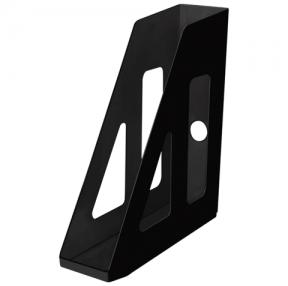Лоток вертикальный для бумаг СТАММ «Актив», ширина 70 мм, черный