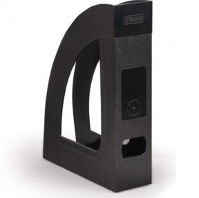 Лоток вертикальный для бумаг СТАММ «Респект-эконом», 70 мм, черный (235783)